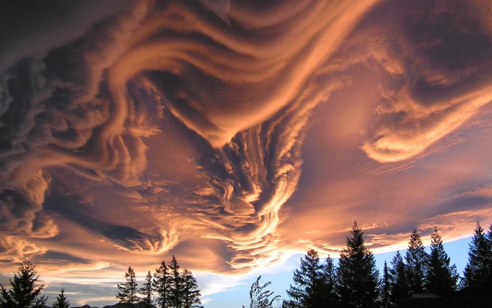 NASA revela incrível imagem de nuvens raras avistadas na Nova Zelândia