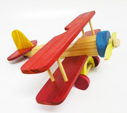 aviao-em-madeira-biplano