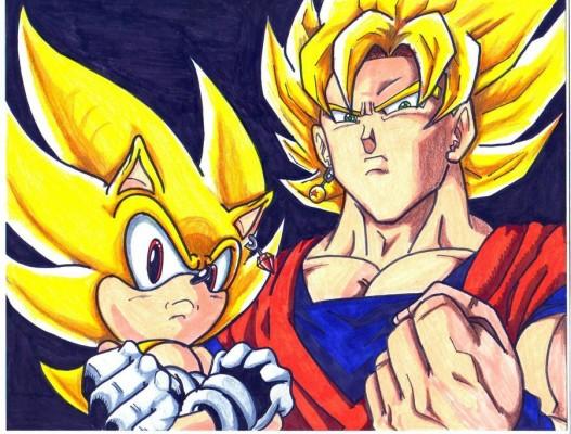 Sonic and Goku