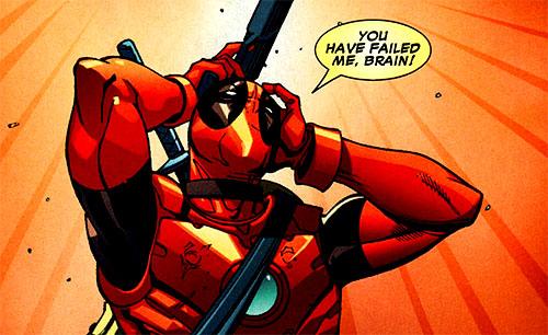 Deadpool chateado com o resultado.