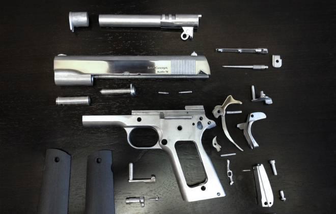 Arma impressa em Impressora 3D