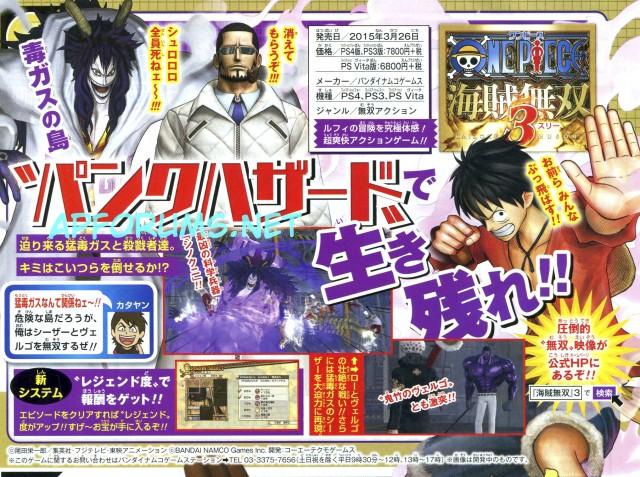 One Piece Pirate Warriors Caesar e Vergo