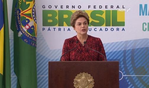 Imagem de divulgação da Presidente no Planalto sobre Marco o Legal da Ciência